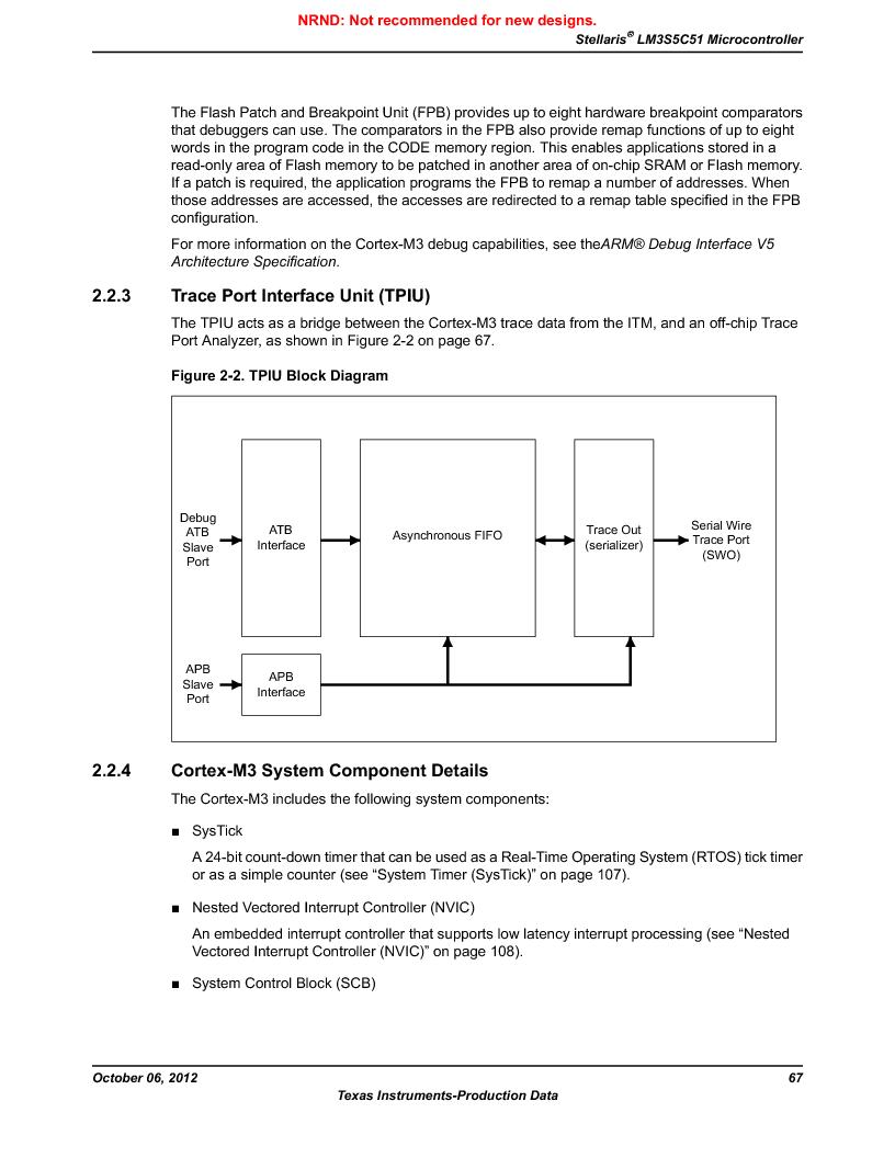 LM3S5C51-IBZ80-A1 ,Texas Instruments厂商,IC ARM CORTEX MCU 512KB 108NFBGA, LM3S5C51-IBZ80-A1 datasheet预览  第67页