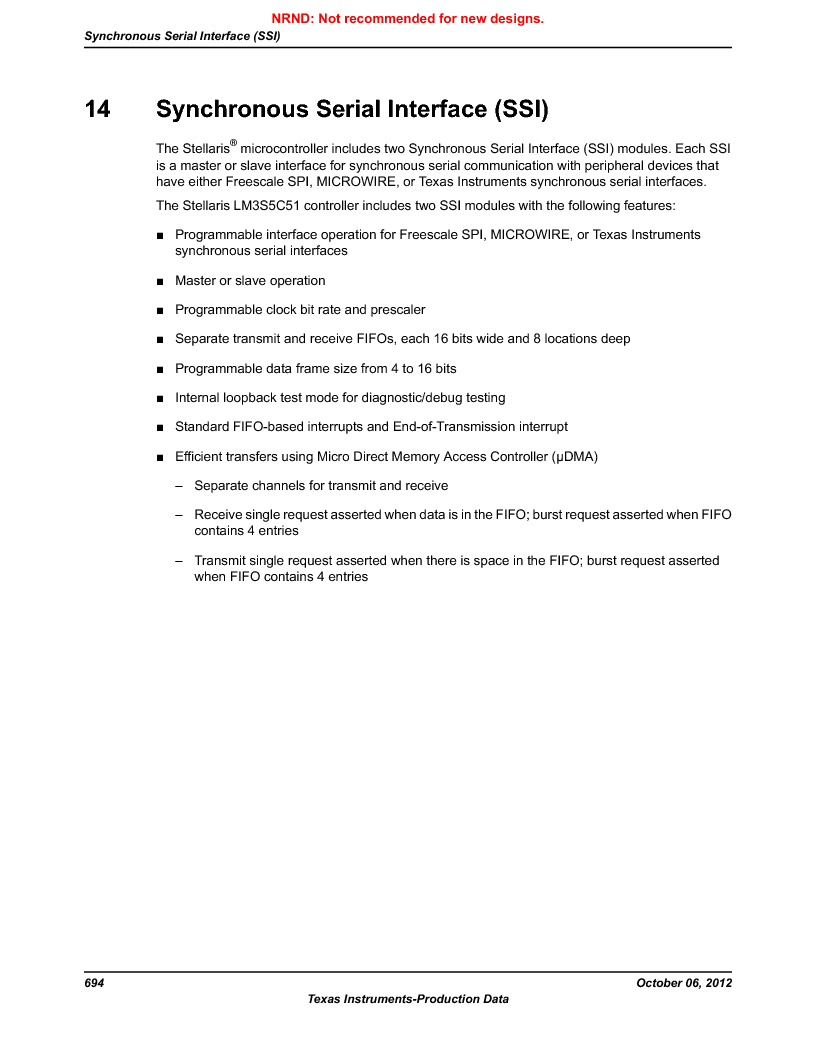 LM3S5C51-IBZ80-A1 ,Texas Instruments厂商,IC ARM CORTEX MCU 512KB 108NFBGA, LM3S5C51-IBZ80-A1 datasheet预览  第694页