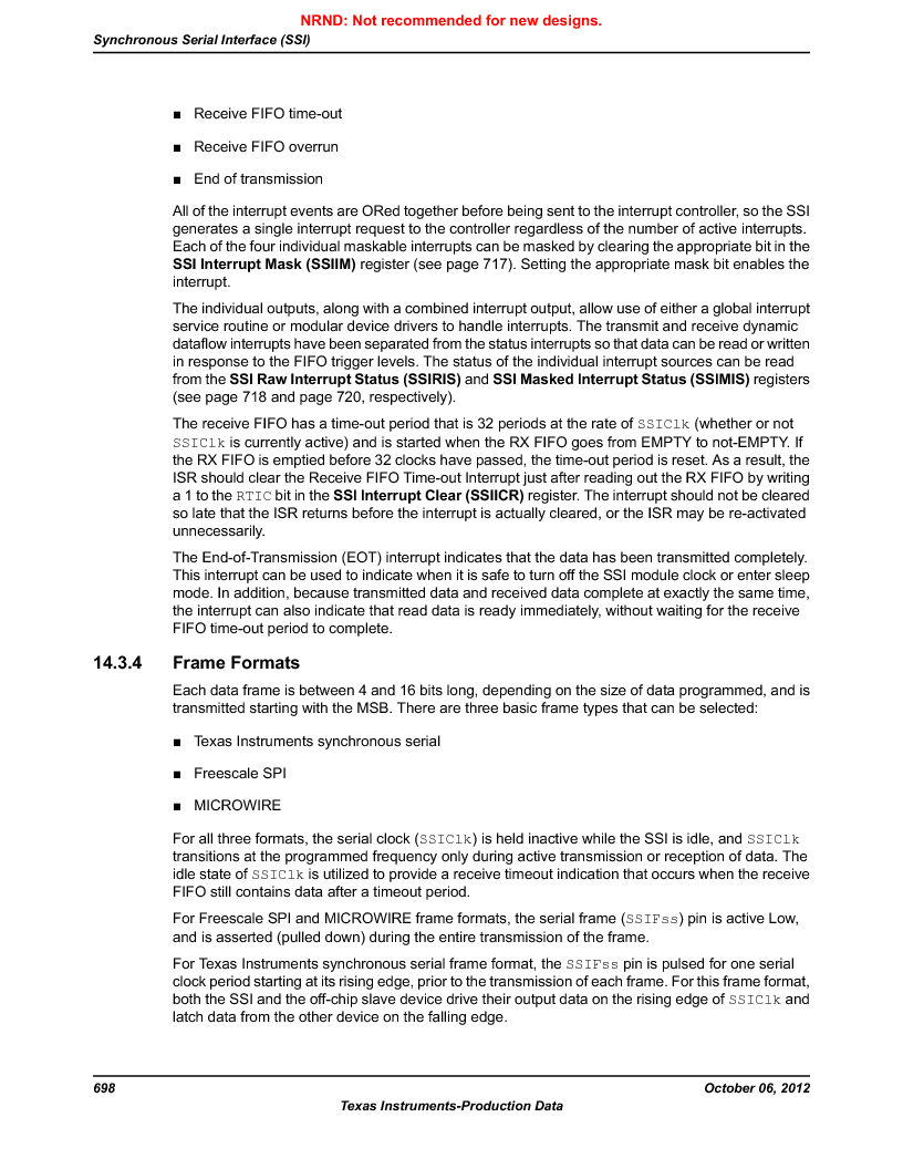 LM3S5C51-IBZ80-A1 ,Texas Instruments厂商,IC ARM CORTEX MCU 512KB 108NFBGA, LM3S5C51-IBZ80-A1 datasheet预览  第698页
