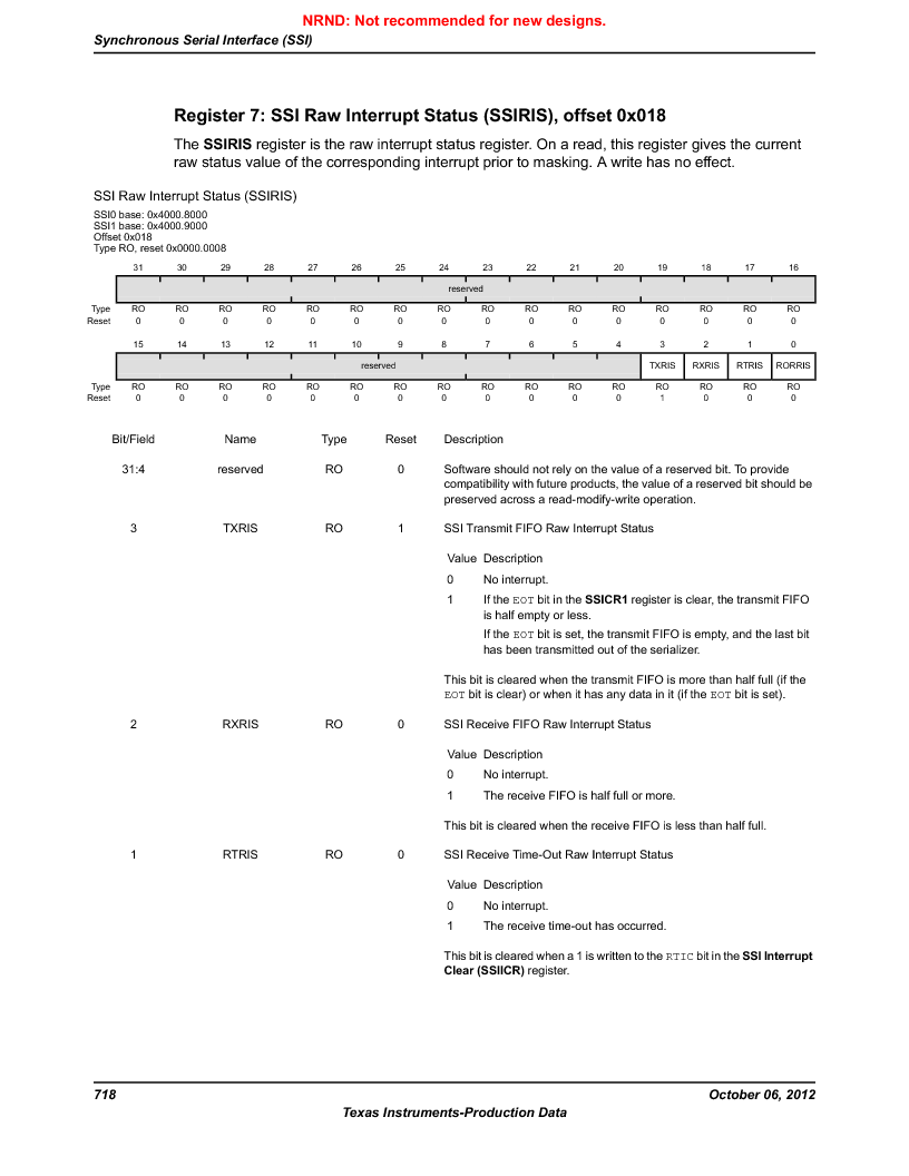 LM3S5C51-IBZ80-A1 ,Texas Instruments厂商,IC ARM CORTEX MCU 512KB 108NFBGA, LM3S5C51-IBZ80-A1 datasheet预览  第718页