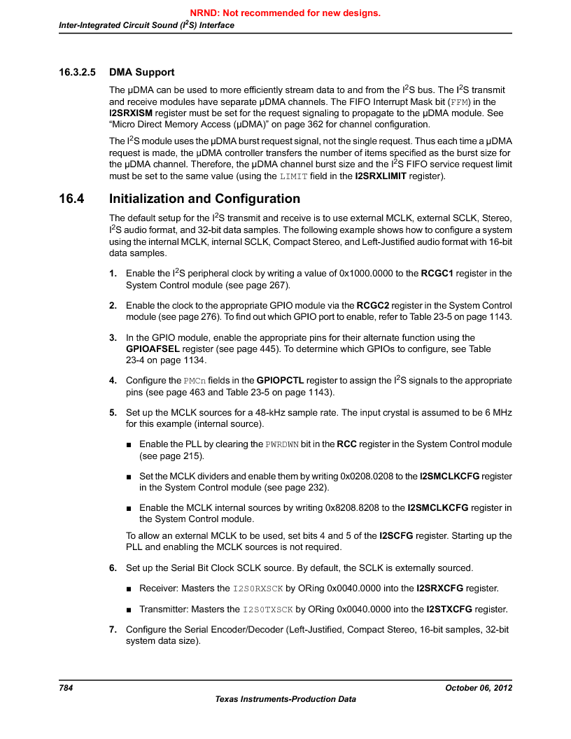 LM3S5C51-IBZ80-A1 ,Texas Instruments厂商,IC ARM CORTEX MCU 512KB 108NFBGA, LM3S5C51-IBZ80-A1 datasheet预览  第784页
