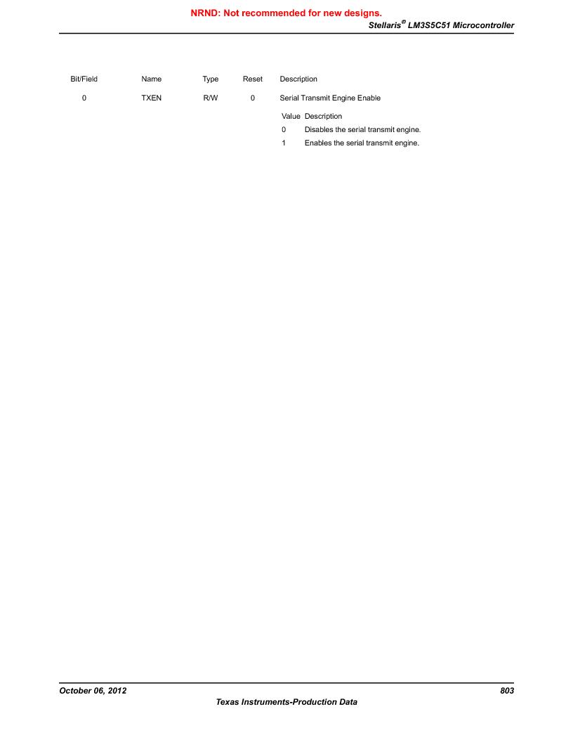 LM3S5C51-IBZ80-A1 ,Texas Instruments厂商,IC ARM CORTEX MCU 512KB 108NFBGA, LM3S5C51-IBZ80-A1 datasheet预览  第803页