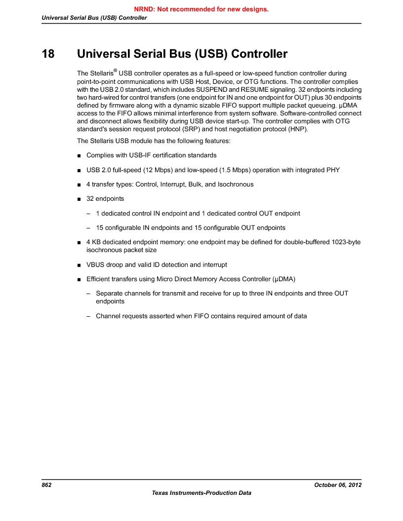 LM3S5C51-IBZ80-A1 ,Texas Instruments厂商,IC ARM CORTEX MCU 512KB 108NFBGA, LM3S5C51-IBZ80-A1 datasheet预览  第862页