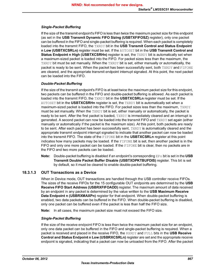 LM3S5C51-IBZ80-A1 ,Texas Instruments厂商,IC ARM CORTEX MCU 512KB 108NFBGA, LM3S5C51-IBZ80-A1 datasheet预览  第867页