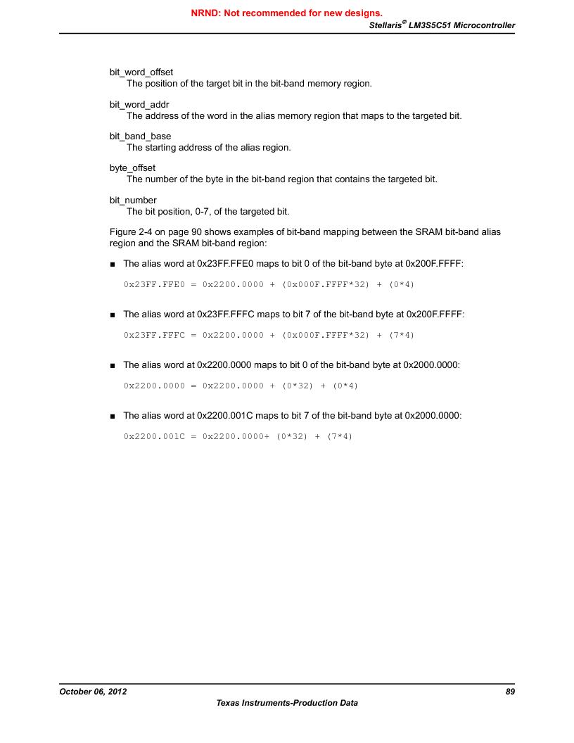 LM3S5C51-IBZ80-A1 ,Texas Instruments厂商,IC ARM CORTEX MCU 512KB 108NFBGA, LM3S5C51-IBZ80-A1 datasheet预览  第89页