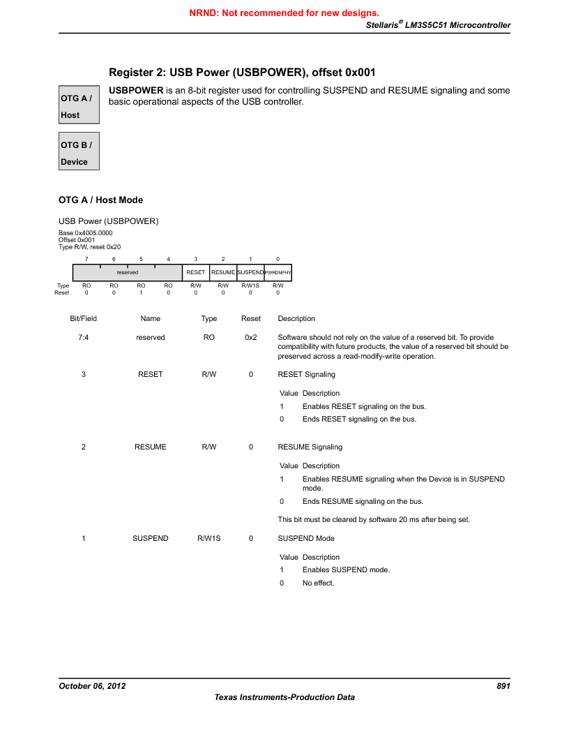 LM3S5C51-IBZ80-A1 ,Texas Instruments厂商,IC ARM CORTEX MCU 512KB 108NFBGA, LM3S5C51-IBZ80-A1 datasheet预览  第891页