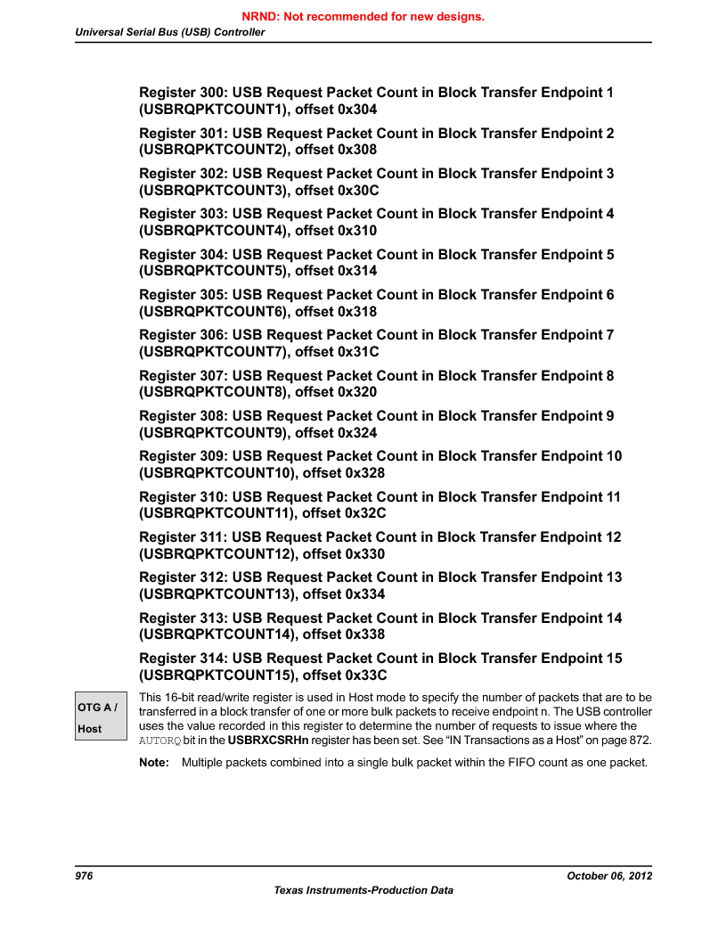 LM3S5C51-IBZ80-A1 ,Texas Instruments厂商,IC ARM CORTEX MCU 512KB 108NFBGA, LM3S5C51-IBZ80-A1 datasheet预览  第976页