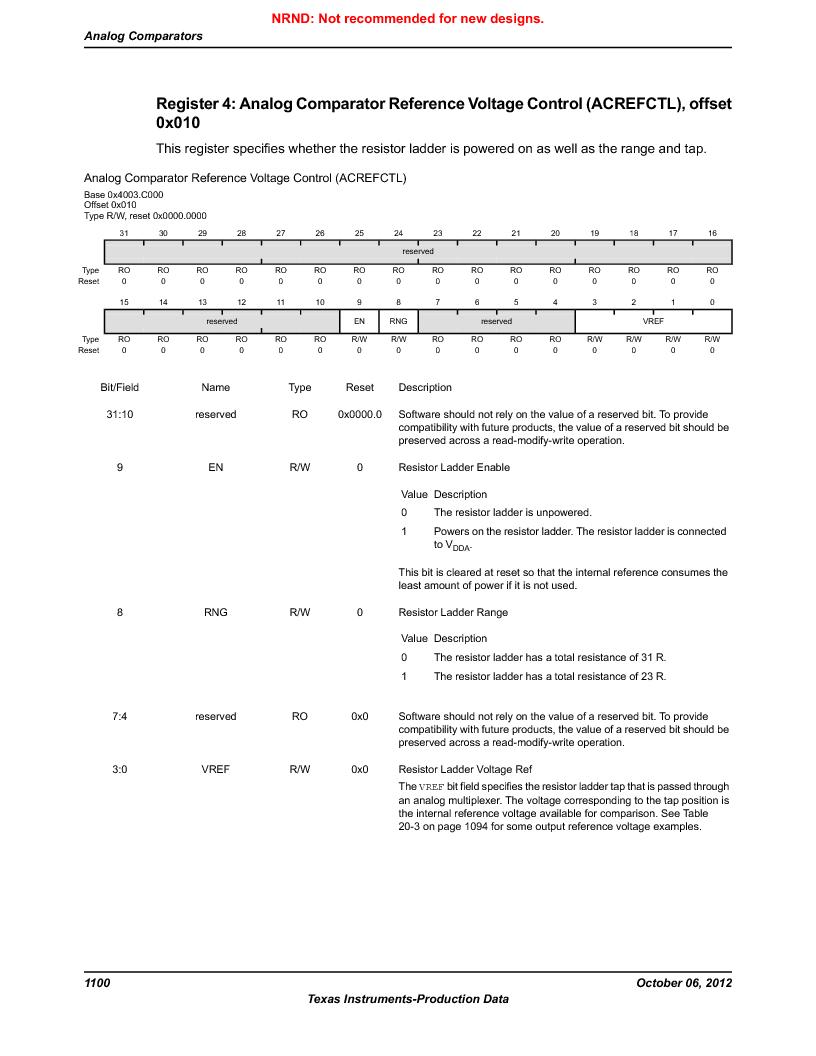 LM3S9BN6-IQC80-C3 ,Texas Instruments厂商,IC ARM CORTEX MCU 256KB 100LQFP, LM3S9BN6-IQC80-C3 datasheet预览  第1100页
