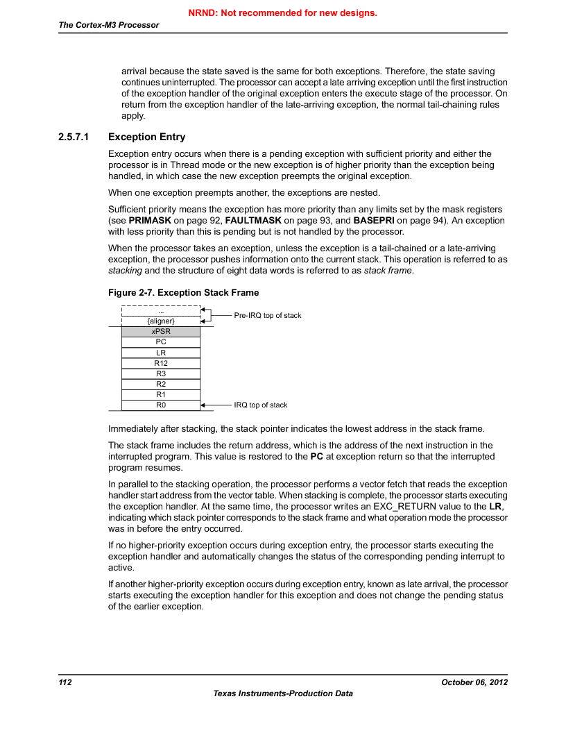 LM3S9BN6-IQC80-C3 ,Texas Instruments厂商,IC ARM CORTEX MCU 256KB 100LQFP, LM3S9BN6-IQC80-C3 datasheet预览  第112页