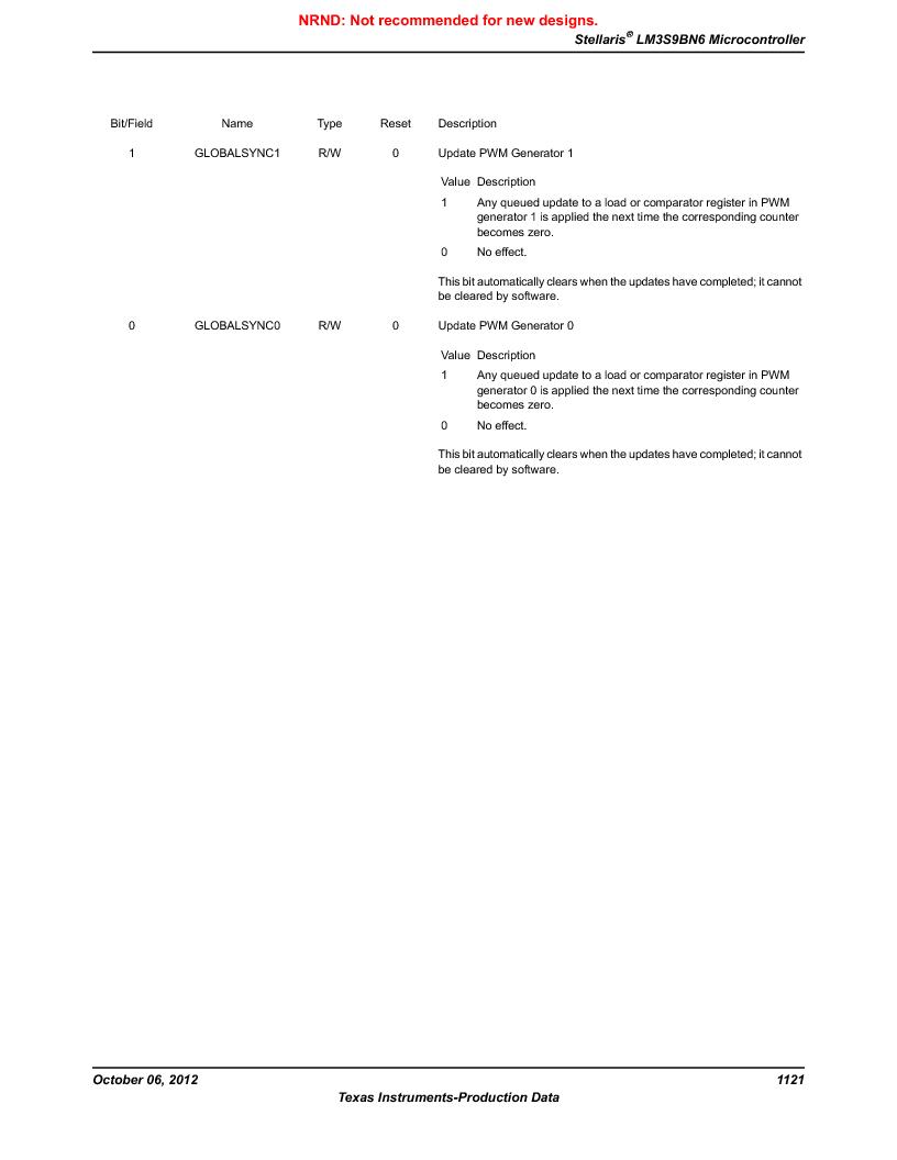 LM3S9BN6-IQC80-C3 ,Texas Instruments厂商,IC ARM CORTEX MCU 256KB 100LQFP, LM3S9BN6-IQC80-C3 datasheet预览  第1121页