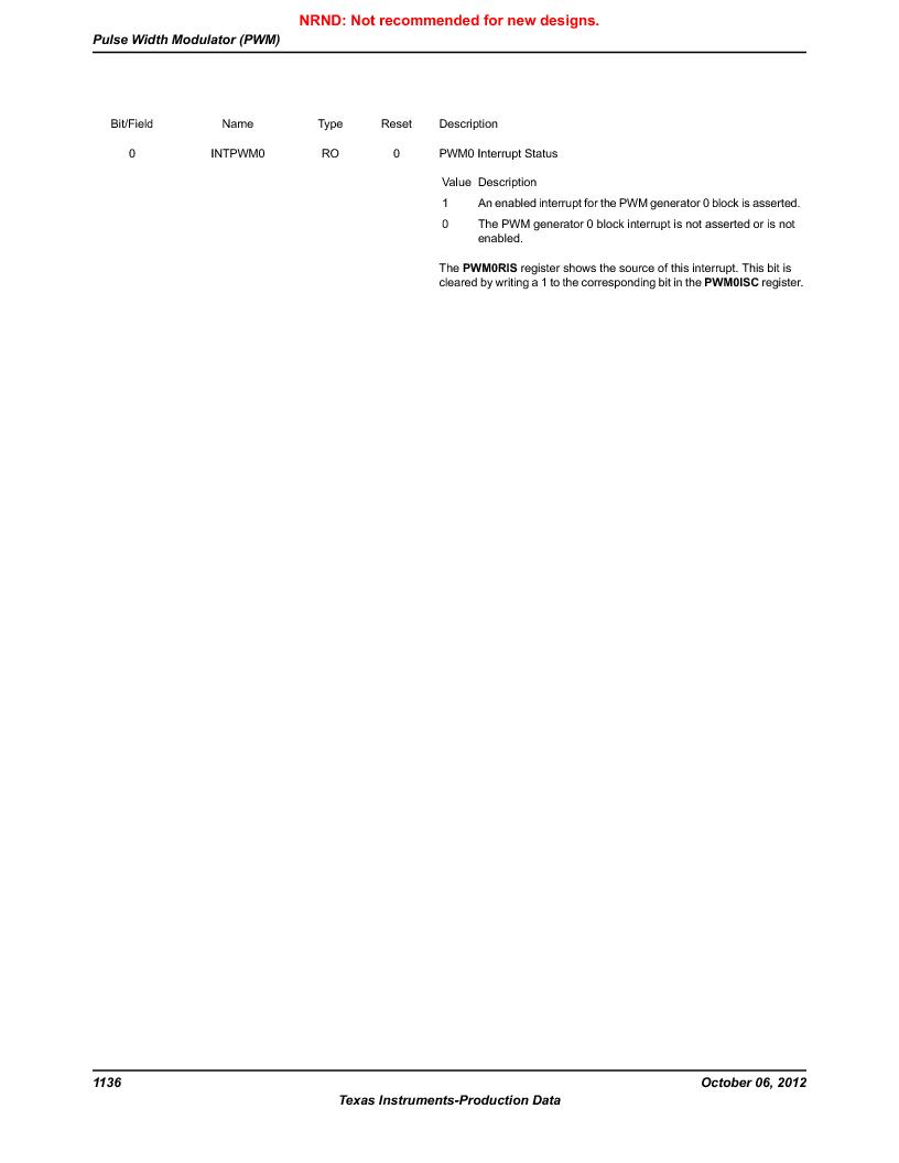 LM3S9BN6-IQC80-C3 ,Texas Instruments厂商,IC ARM CORTEX MCU 256KB 100LQFP, LM3S9BN6-IQC80-C3 datasheet预览  第1136页