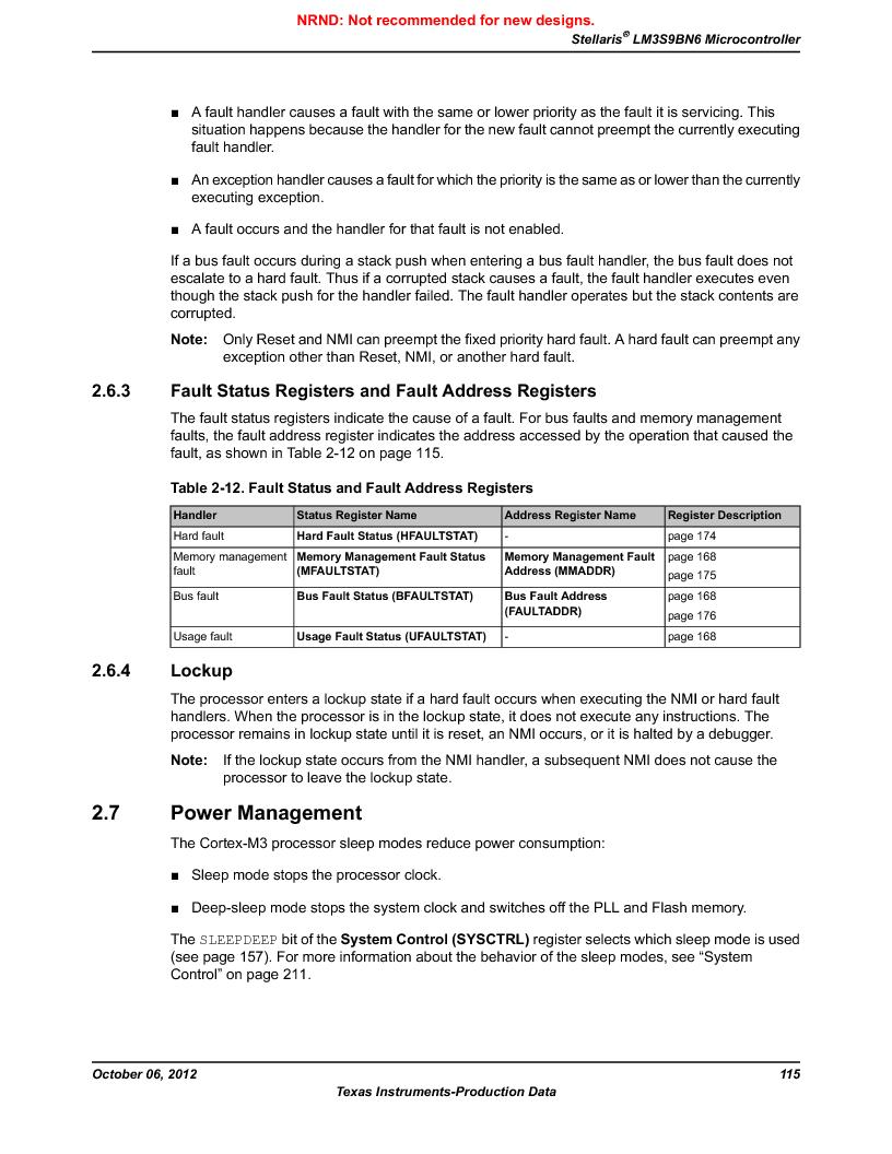 LM3S9BN6-IQC80-C3 ,Texas Instruments厂商,IC ARM CORTEX MCU 256KB 100LQFP, LM3S9BN6-IQC80-C3 datasheet预览  第115页