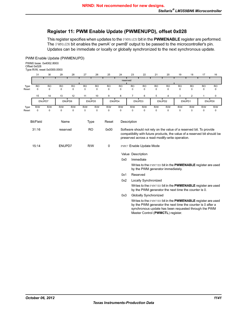 LM3S9BN6-IQC80-C3 ,Texas Instruments厂商,IC ARM CORTEX MCU 256KB 100LQFP, LM3S9BN6-IQC80-C3 datasheet预览  第1141页