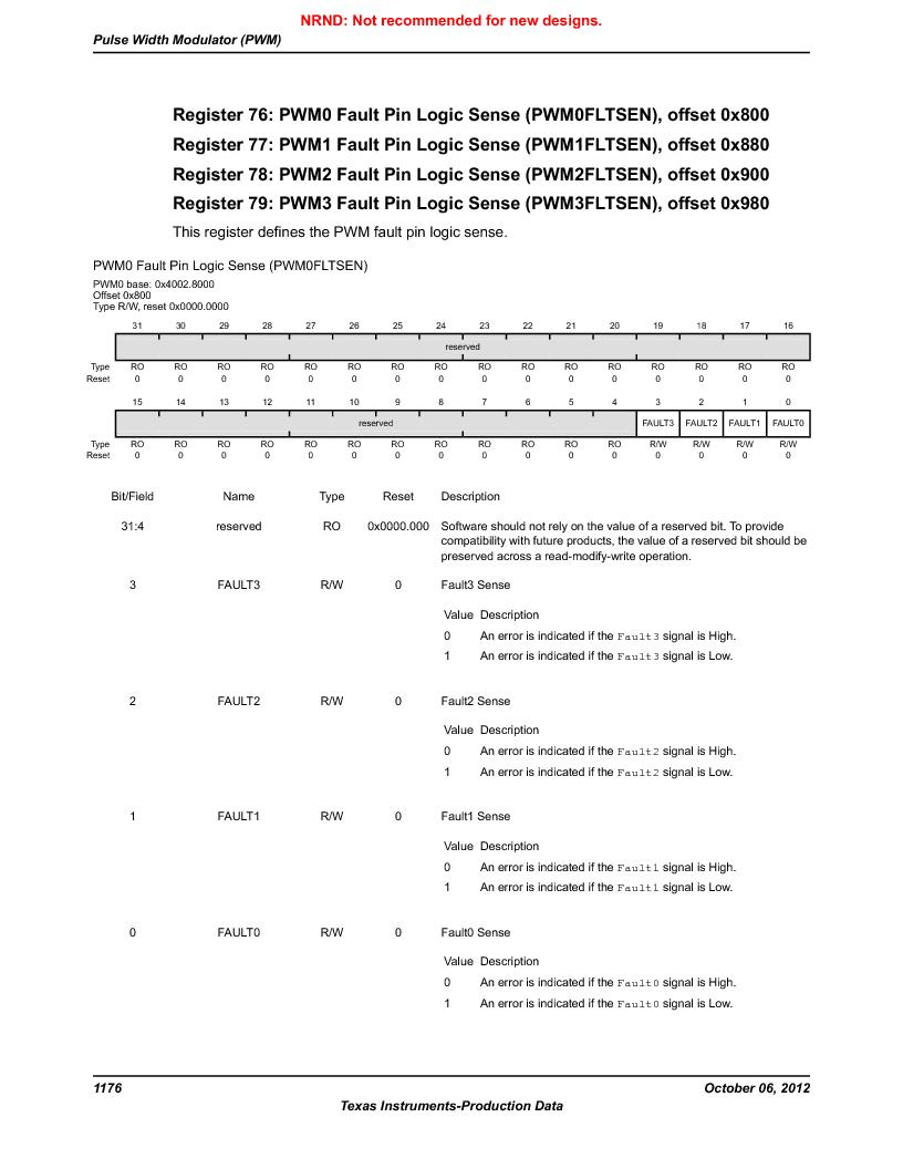 LM3S9BN6-IQC80-C3 ,Texas Instruments厂商,IC ARM CORTEX MCU 256KB 100LQFP, LM3S9BN6-IQC80-C3 datasheet预览  第1176页