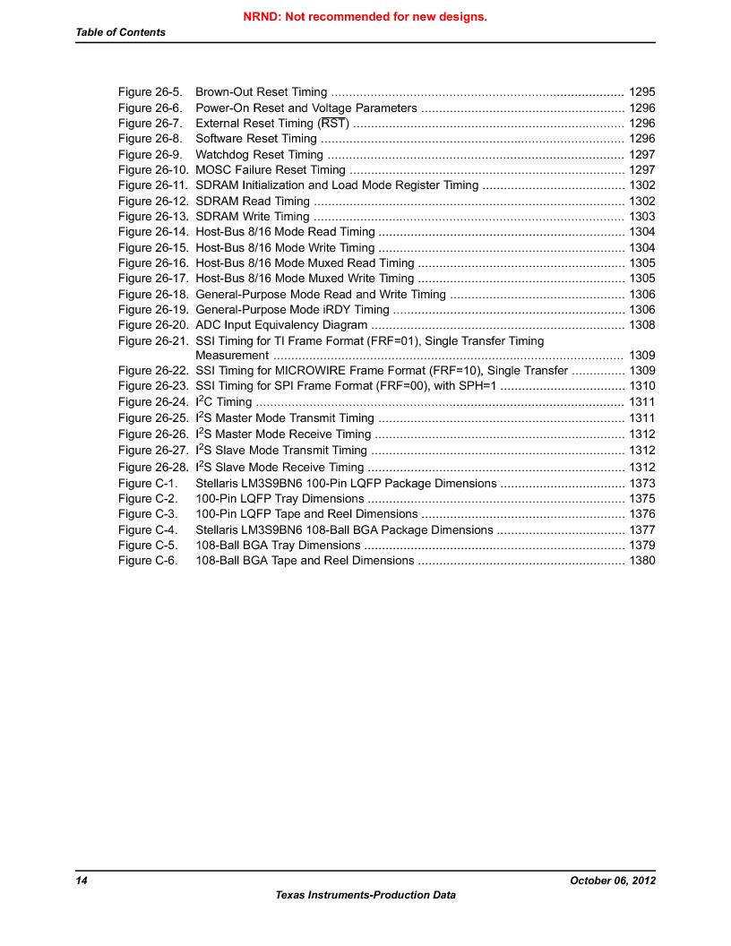 LM3S9BN6-IQC80-C3 ,Texas Instruments厂商,IC ARM CORTEX MCU 256KB 100LQFP, LM3S9BN6-IQC80-C3 datasheet预览  第14页