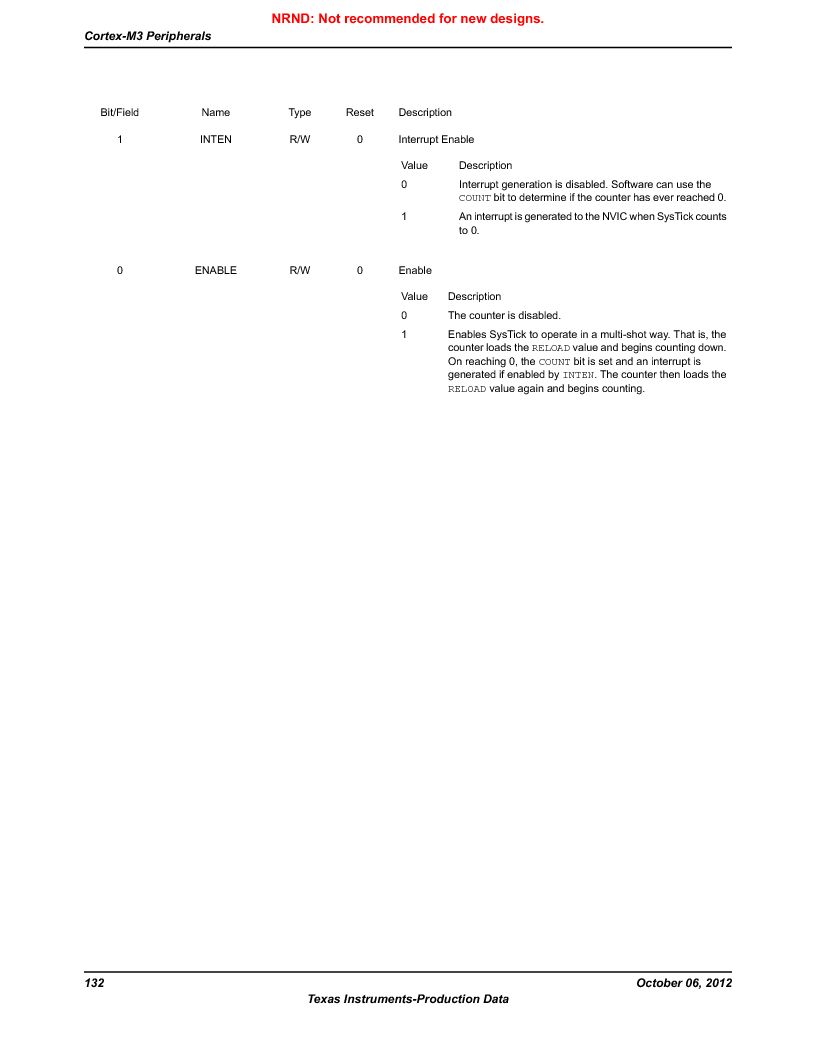 LM3S9BN6-IQC80-C3 ,Texas Instruments厂商,IC ARM CORTEX MCU 256KB 100LQFP, LM3S9BN6-IQC80-C3 datasheet预览  第132页