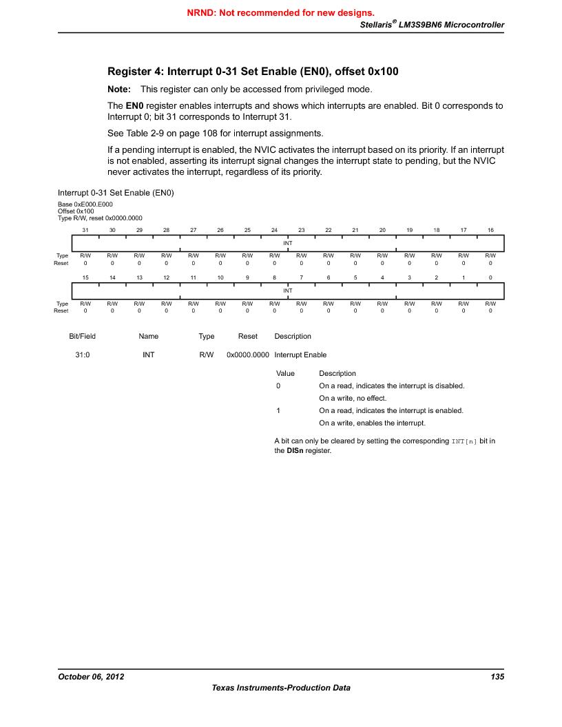 LM3S9BN6-IQC80-C3 ,Texas Instruments厂商,IC ARM CORTEX MCU 256KB 100LQFP, LM3S9BN6-IQC80-C3 datasheet预览  第135页