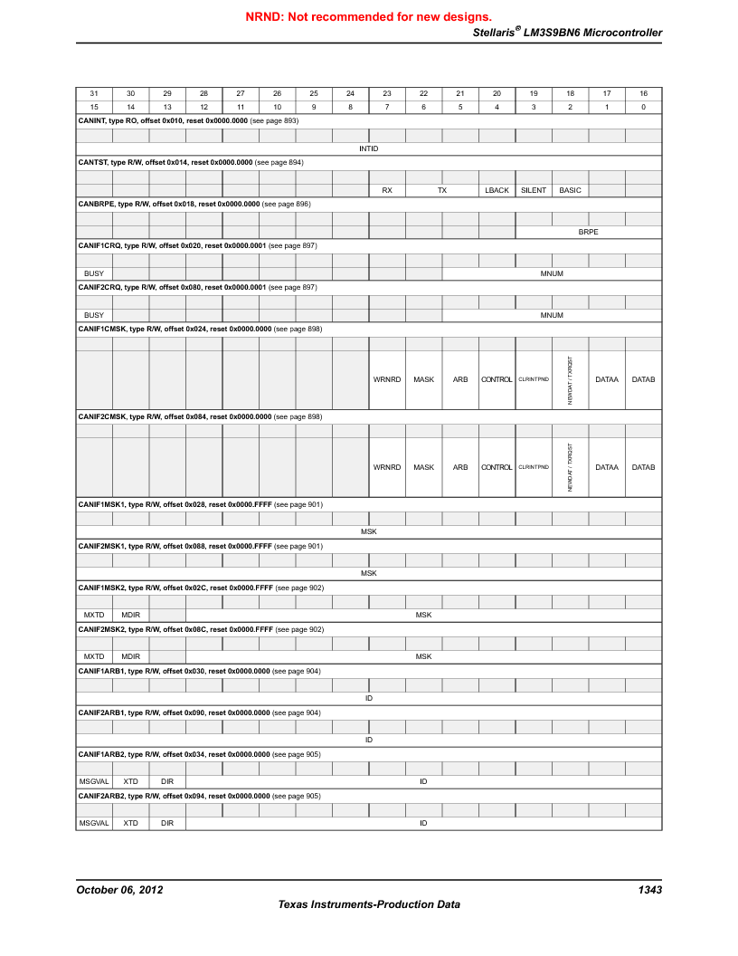 LM3S9BN6-IQC80-C3 ,Texas Instruments厂商,IC ARM CORTEX MCU 256KB 100LQFP, LM3S9BN6-IQC80-C3 datasheet预览  第1343页