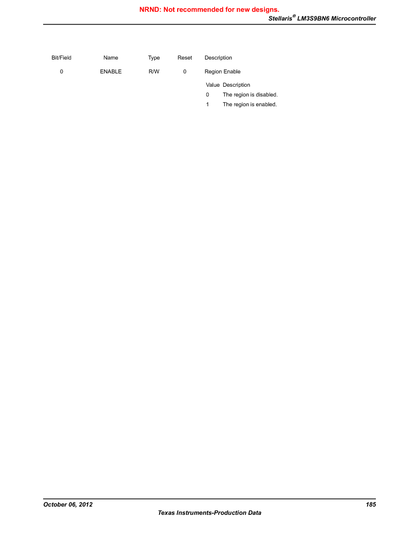 LM3S9BN6-IQC80-C3 ,Texas Instruments厂商,IC ARM CORTEX MCU 256KB 100LQFP, LM3S9BN6-IQC80-C3 datasheet预览  第185页