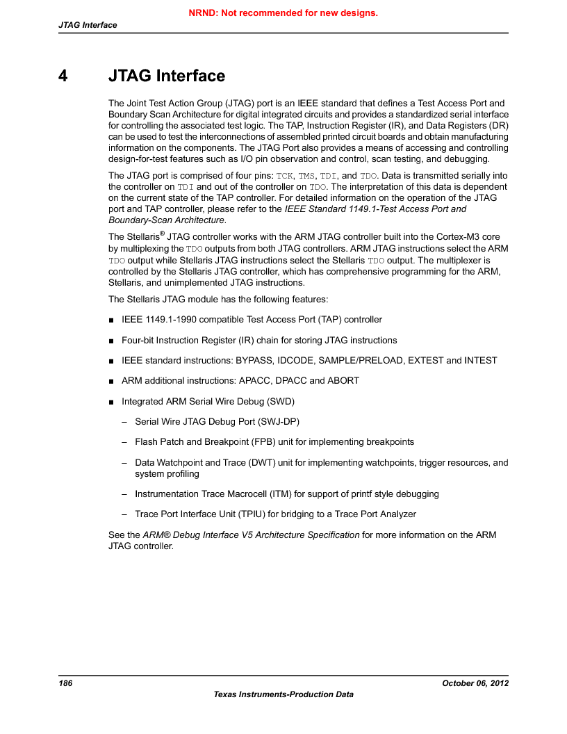 LM3S9BN6-IQC80-C3 ,Texas Instruments厂商,IC ARM CORTEX MCU 256KB 100LQFP, LM3S9BN6-IQC80-C3 datasheet预览  第186页