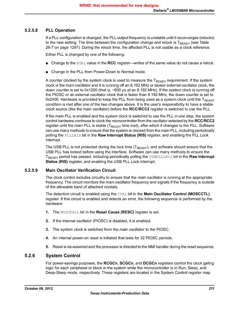 LM3S9BN6-IQC80-C3 ,Texas Instruments厂商,IC ARM CORTEX MCU 256KB 100LQFP, LM3S9BN6-IQC80-C3 datasheet预览  第211页