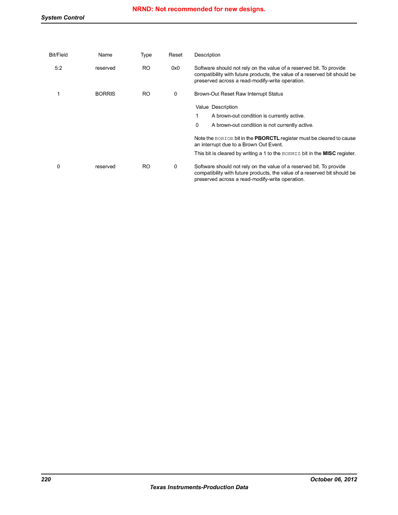 LM3S9BN6-IQC80-C3 ,Texas Instruments厂商,IC ARM CORTEX MCU 256KB 100LQFP, LM3S9BN6-IQC80-C3 datasheet预览  第220页