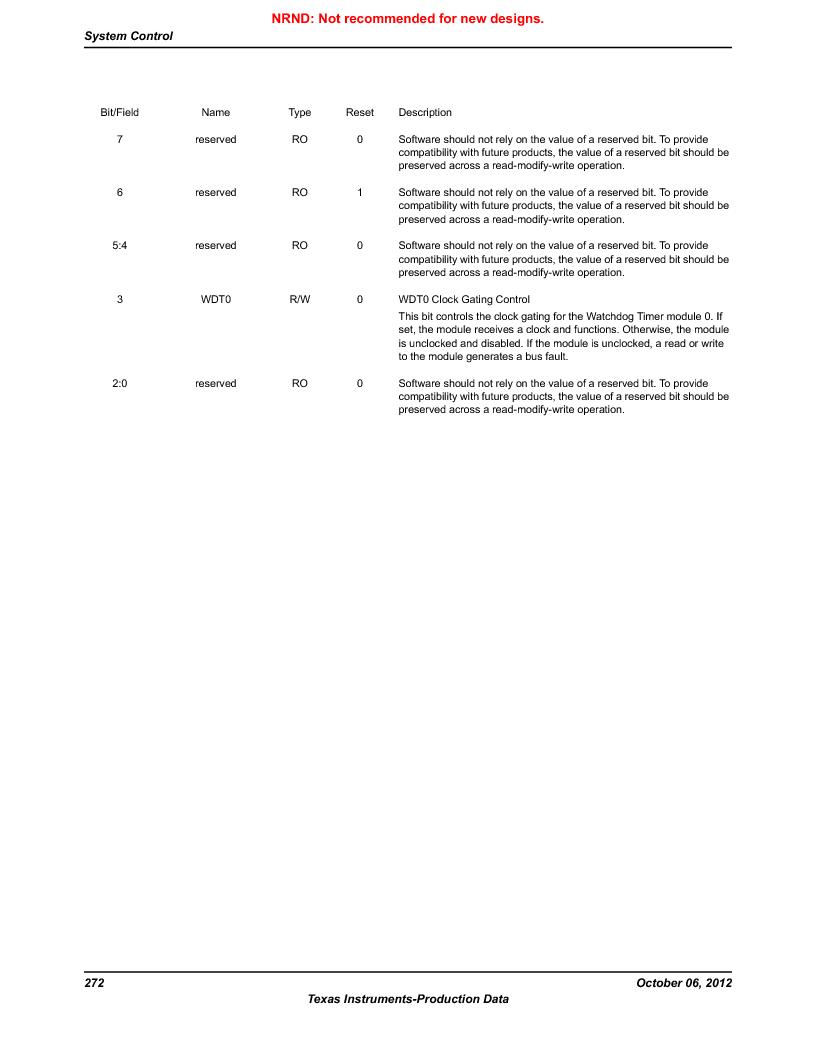 LM3S9BN6-IQC80-C3 ,Texas Instruments厂商,IC ARM CORTEX MCU 256KB 100LQFP, LM3S9BN6-IQC80-C3 datasheet预览  第272页