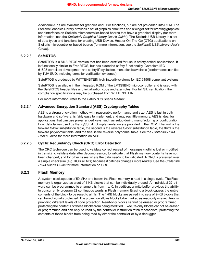 LM3S9BN6-IQC80-C3 ,Texas Instruments厂商,IC ARM CORTEX MCU 256KB 100LQFP, LM3S9BN6-IQC80-C3 datasheet预览  第309页