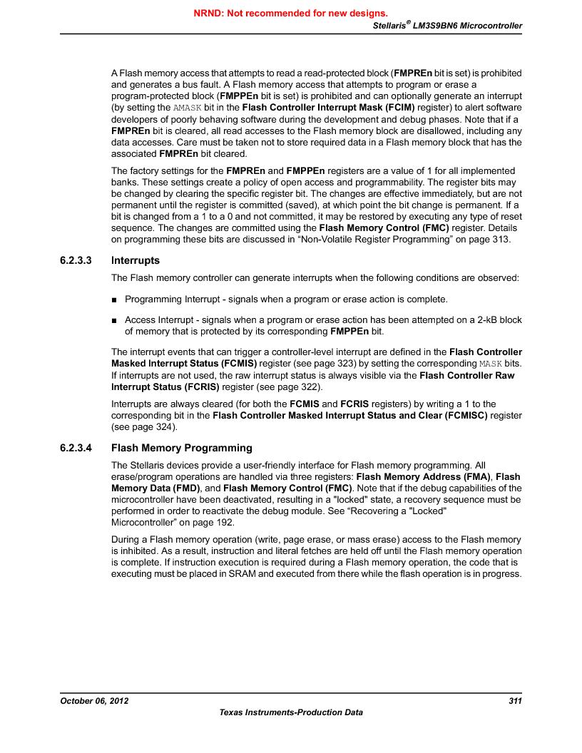 LM3S9BN6-IQC80-C3 ,Texas Instruments厂商,IC ARM CORTEX MCU 256KB 100LQFP, LM3S9BN6-IQC80-C3 datasheet预览  第311页