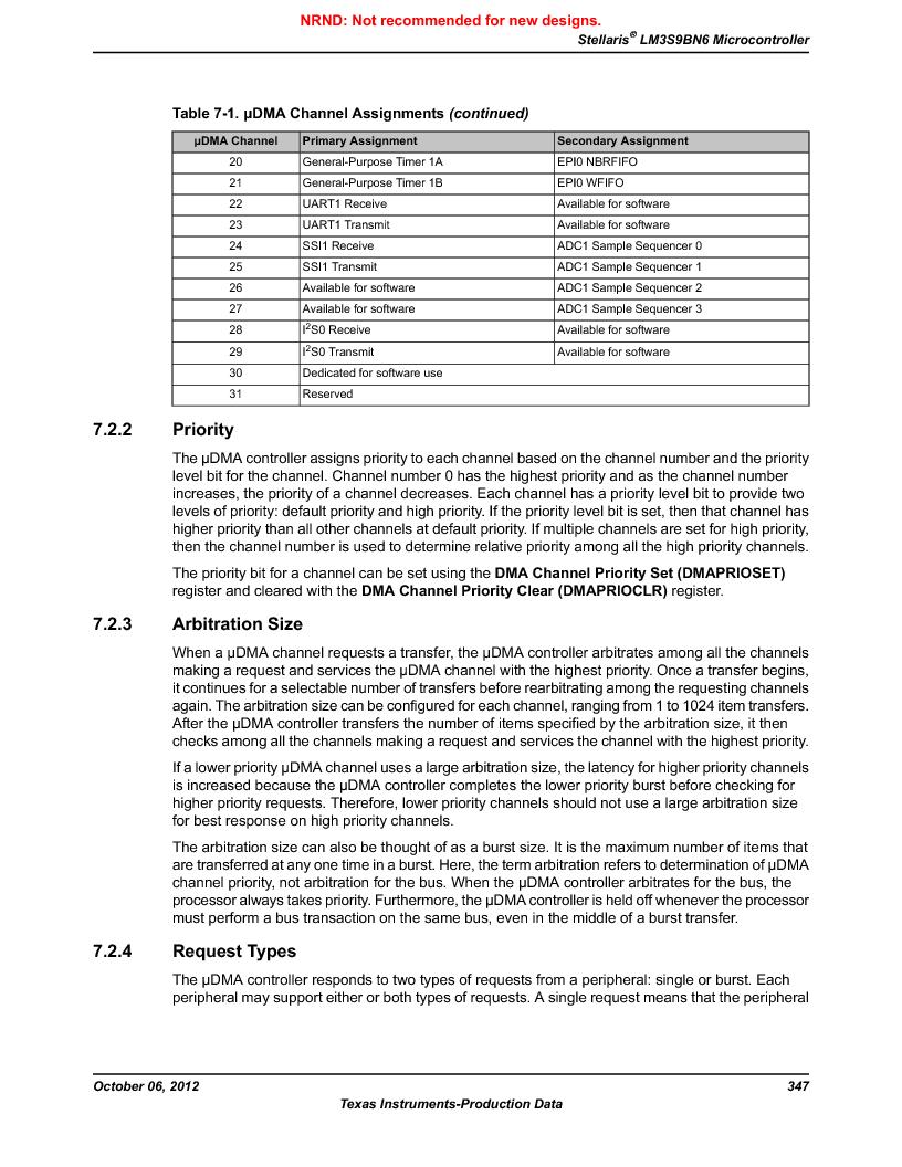 LM3S9BN6-IQC80-C3 ,Texas Instruments厂商,IC ARM CORTEX MCU 256KB 100LQFP, LM3S9BN6-IQC80-C3 datasheet预览  第347页