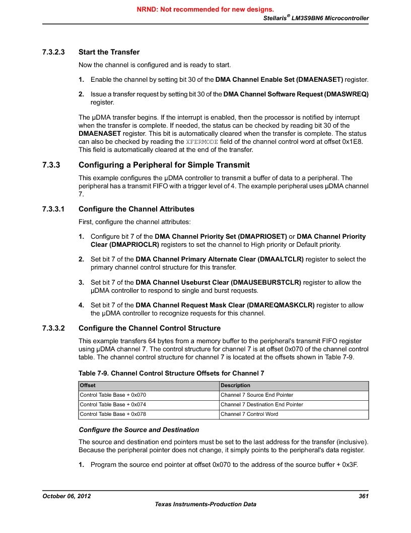 LM3S9BN6-IQC80-C3 ,Texas Instruments厂商,IC ARM CORTEX MCU 256KB 100LQFP, LM3S9BN6-IQC80-C3 datasheet预览  第361页