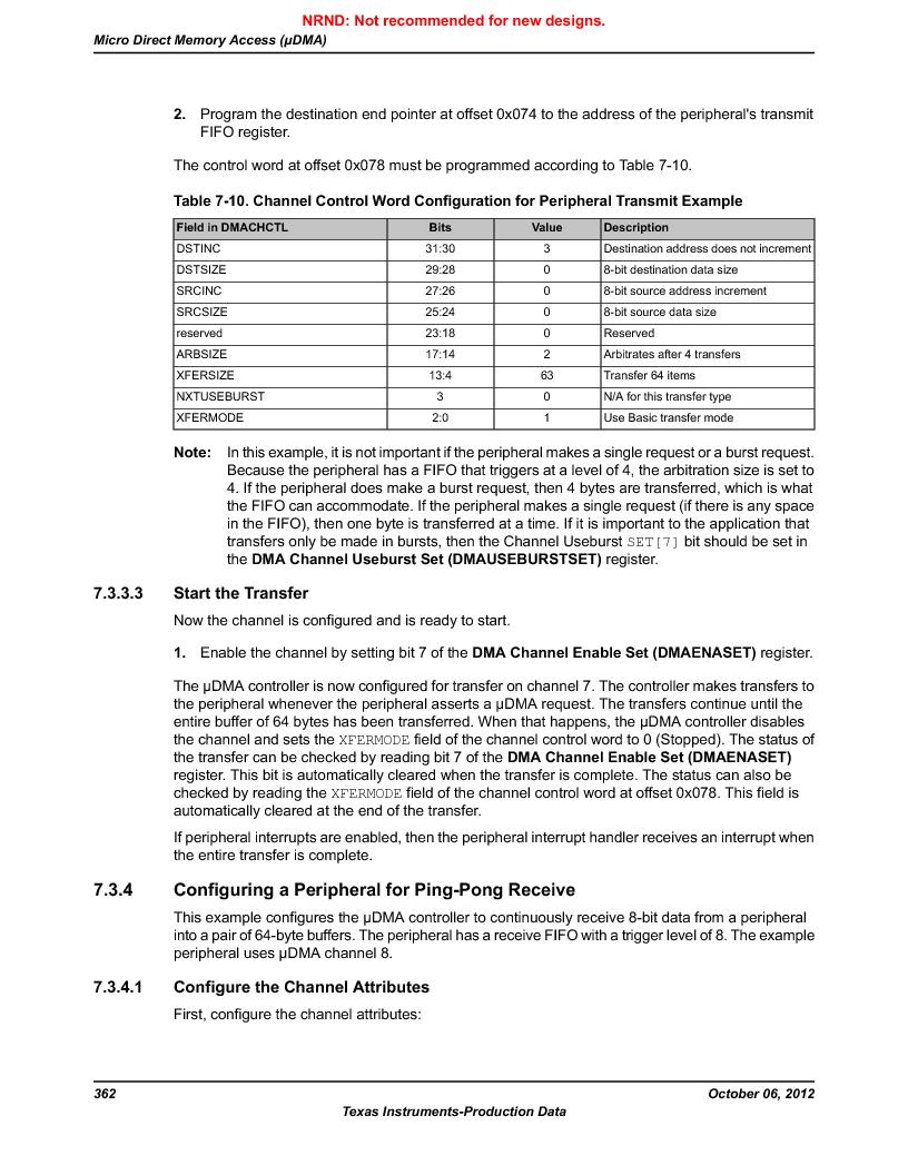 LM3S9BN6-IQC80-C3 ,Texas Instruments厂商,IC ARM CORTEX MCU 256KB 100LQFP, LM3S9BN6-IQC80-C3 datasheet预览  第362页