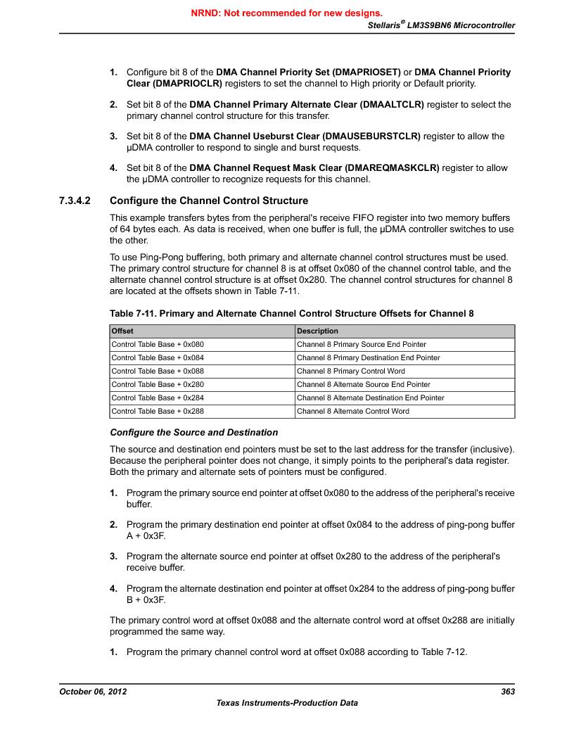 LM3S9BN6-IQC80-C3 ,Texas Instruments厂商,IC ARM CORTEX MCU 256KB 100LQFP, LM3S9BN6-IQC80-C3 datasheet预览  第363页
