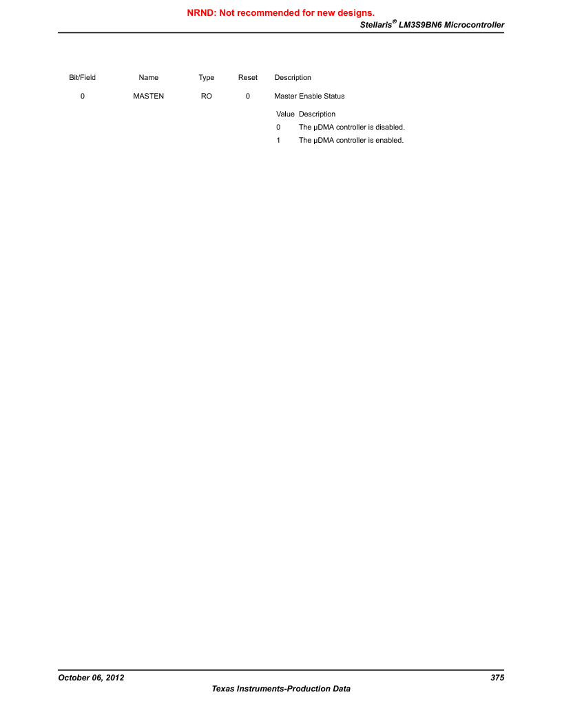 LM3S9BN6-IQC80-C3 ,Texas Instruments厂商,IC ARM CORTEX MCU 256KB 100LQFP, LM3S9BN6-IQC80-C3 datasheet预览  第375页