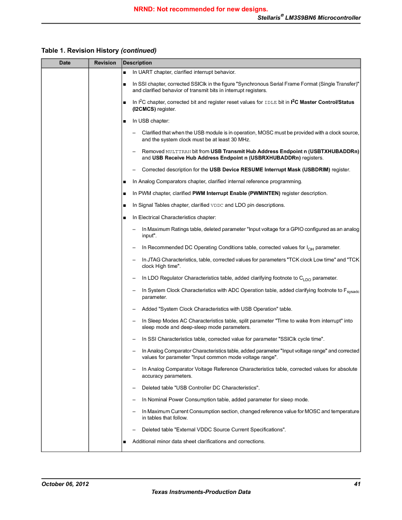LM3S9BN6-IQC80-C3 ,Texas Instruments厂商,IC ARM CORTEX MCU 256KB 100LQFP, LM3S9BN6-IQC80-C3 datasheet预览  第41页