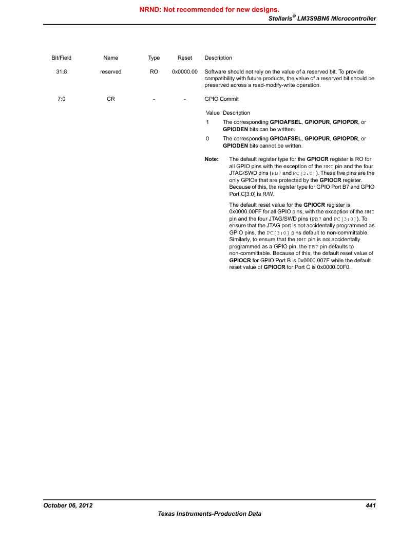 LM3S9BN6-IQC80-C3 ,Texas Instruments厂商,IC ARM CORTEX MCU 256KB 100LQFP, LM3S9BN6-IQC80-C3 datasheet预览  第441页