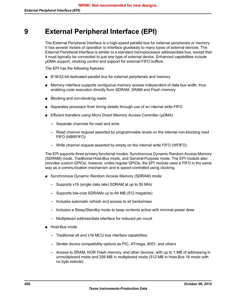 LM3S9BN6-IQC80-C3 ,Texas Instruments厂商,IC ARM CORTEX MCU 256KB 100LQFP, LM3S9BN6-IQC80-C3 datasheet预览  第458页