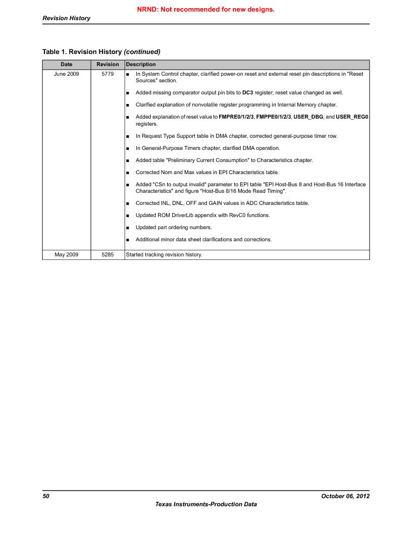 LM3S9BN6-IQC80-C3 ,Texas Instruments厂商,IC ARM CORTEX MCU 256KB 100LQFP, LM3S9BN6-IQC80-C3 datasheet预览  第50页