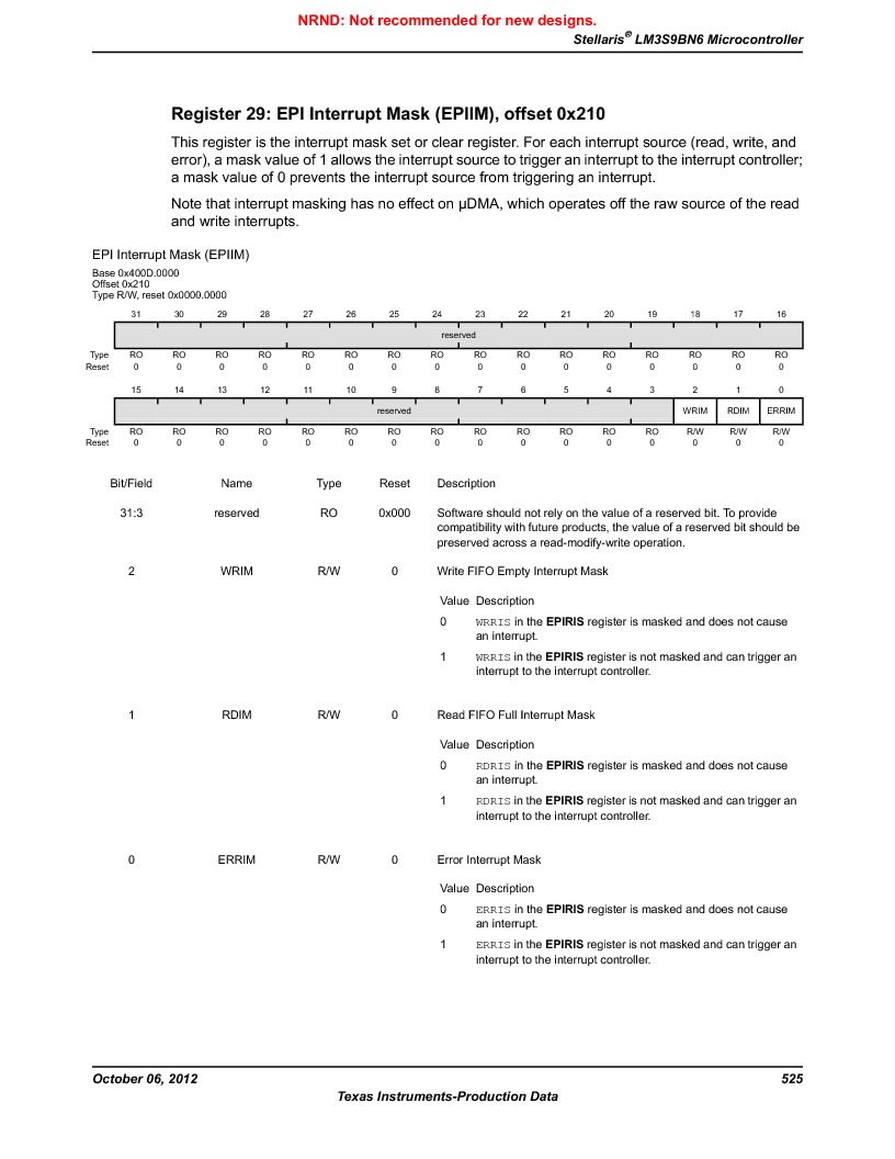 LM3S9BN6-IQC80-C3 ,Texas Instruments厂商,IC ARM CORTEX MCU 256KB 100LQFP, LM3S9BN6-IQC80-C3 datasheet预览  第525页