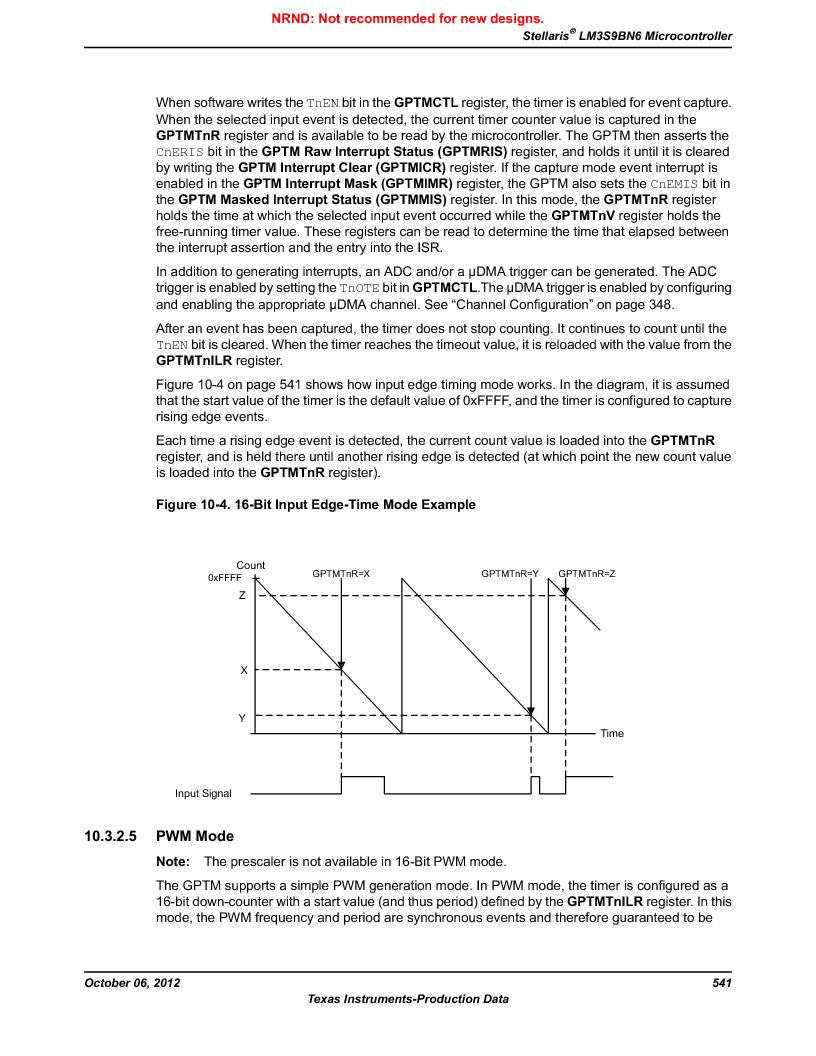 LM3S9BN6-IQC80-C3 ,Texas Instruments厂商,IC ARM CORTEX MCU 256KB 100LQFP, LM3S9BN6-IQC80-C3 datasheet预览  第541页