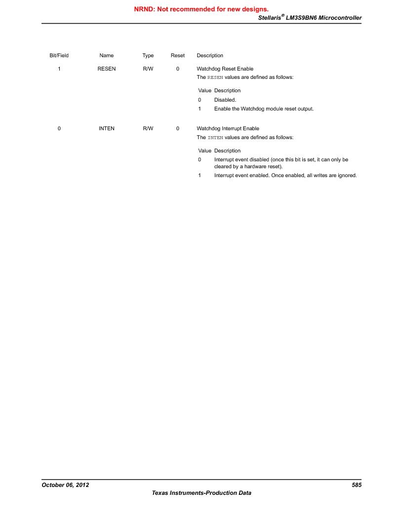 LM3S9BN6-IQC80-C3 ,Texas Instruments厂商,IC ARM CORTEX MCU 256KB 100LQFP, LM3S9BN6-IQC80-C3 datasheet预览  第585页