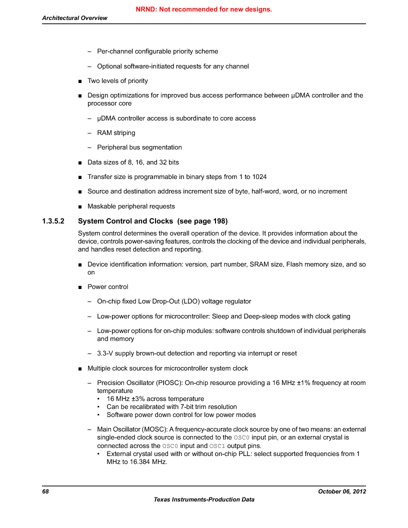 LM3S9BN6-IQC80-C3 ,Texas Instruments厂商,IC ARM CORTEX MCU 256KB 100LQFP, LM3S9BN6-IQC80-C3 datasheet预览  第68页