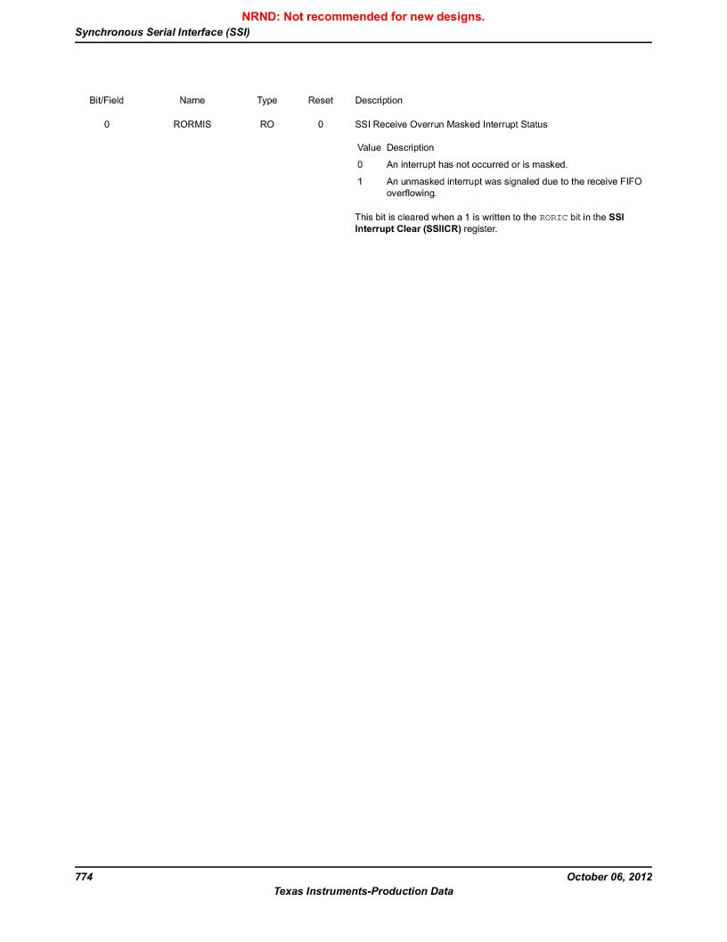 LM3S9BN6-IQC80-C3 ,Texas Instruments厂商,IC ARM CORTEX MCU 256KB 100LQFP, LM3S9BN6-IQC80-C3 datasheet预览  第774页