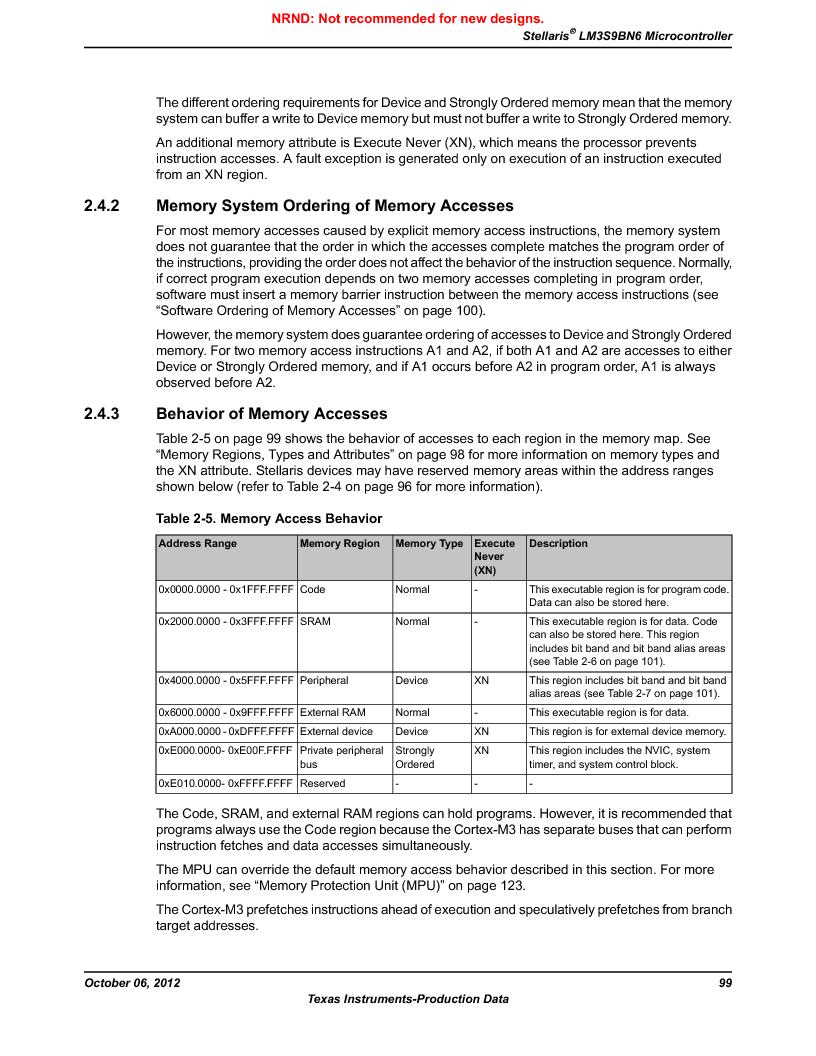 LM3S9BN6-IQC80-C3 ,Texas Instruments厂商,IC ARM CORTEX MCU 256KB 100LQFP, LM3S9BN6-IQC80-C3 datasheet预览  第99页