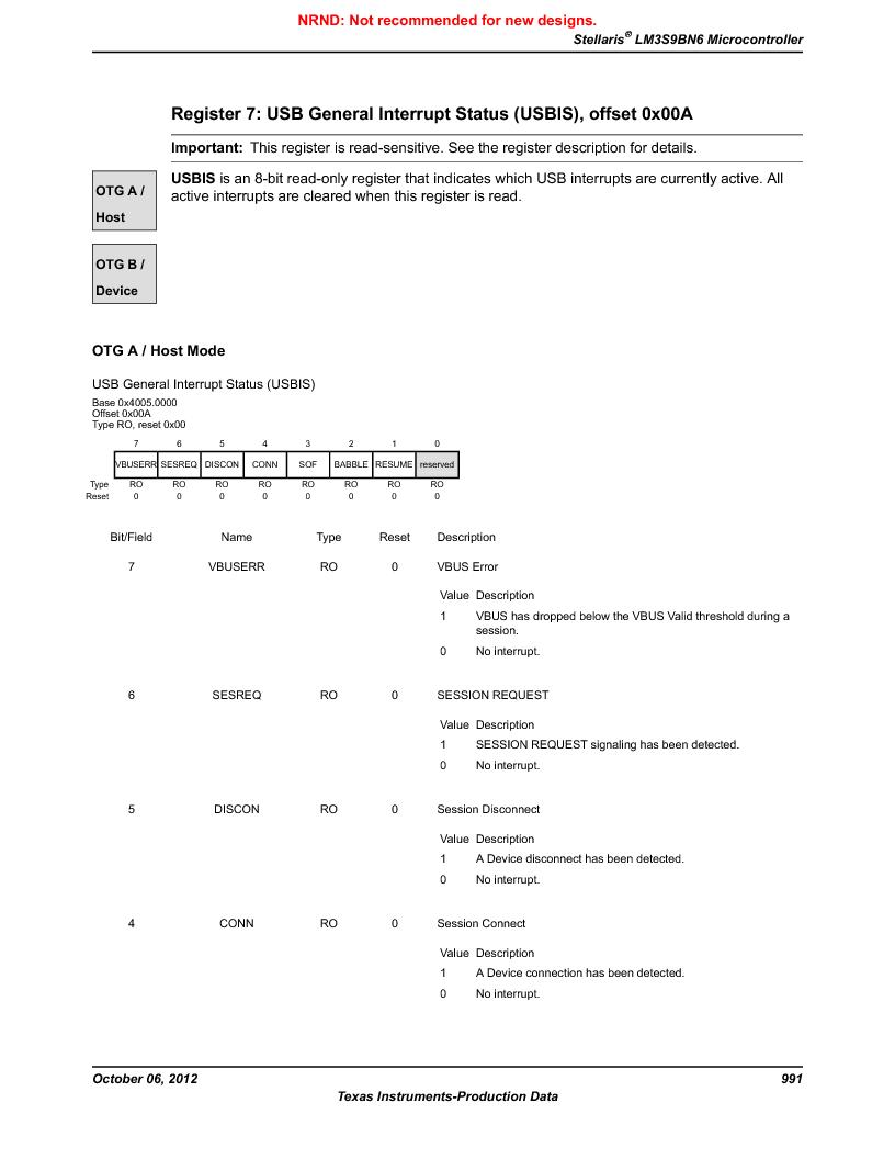 LM3S9BN6-IQC80-C3 ,Texas Instruments厂商,IC ARM CORTEX MCU 256KB 100LQFP, LM3S9BN6-IQC80-C3 datasheet预览  第991页