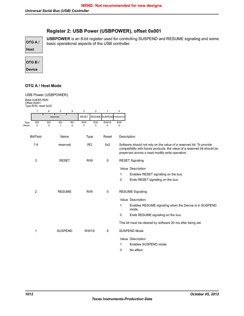 LM3S9U92-IBZ80-A2 ,Texas Instruments厂商,IC ARM CORTEX MCU 384KB 108NFBGA, LM3S9U92-IBZ80-A2 datasheet预览  第1012页