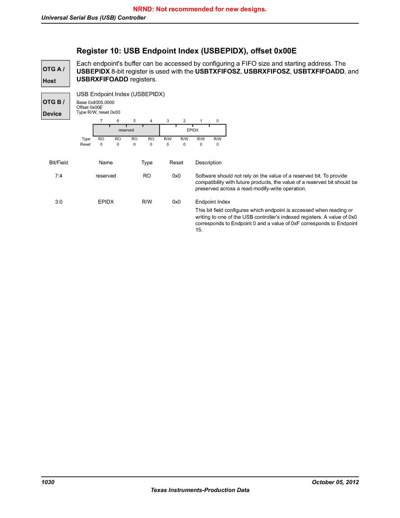 LM3S9U92-IBZ80-A2 ,Texas Instruments厂商,IC ARM CORTEX MCU 384KB 108NFBGA, LM3S9U92-IBZ80-A2 datasheet预览  第1030页