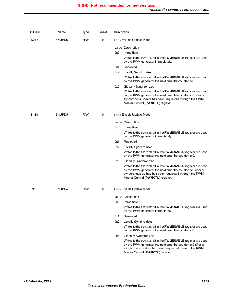 LM3S9U92-IBZ80-A2 ,Texas Instruments厂商,IC ARM CORTEX MCU 384KB 108NFBGA, LM3S9U92-IBZ80-A2 datasheet预览  第1173页