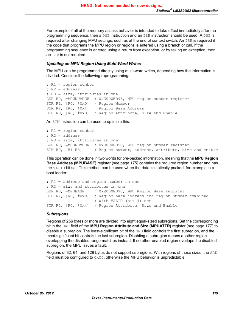 LM3S9U92-IBZ80-A2 ,Texas Instruments厂商,IC ARM CORTEX MCU 384KB 108NFBGA, LM3S9U92-IBZ80-A2 datasheet预览  第119页