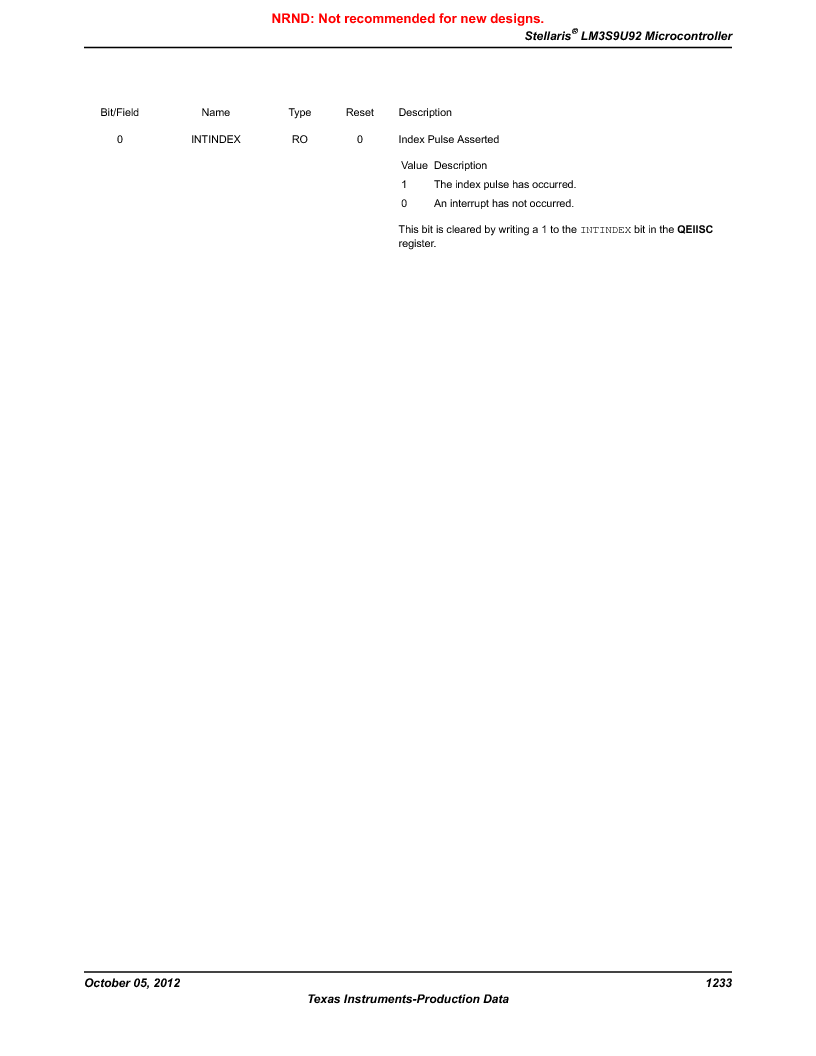 LM3S9U92-IBZ80-A2 ,Texas Instruments厂商,IC ARM CORTEX MCU 384KB 108NFBGA, LM3S9U92-IBZ80-A2 datasheet预览  第1233页